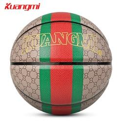 Kuangmi классический стиль мяч баскетбол PU Материал Размер 7 баскетбольная игра уличные тренировочные аксессуары basquete baloncesto