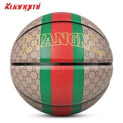 Kuangmi estilo clásico pelota de baloncesto PU Material Tamaño 7 baloncesto Juegos de calle accesorios de entrenamiento basquete baloncesto