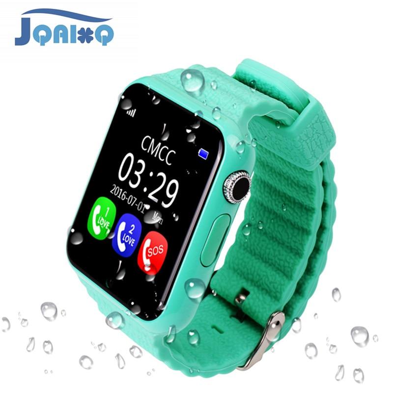Original v7k gps bluetooth relógio inteligente para crianças menino menina apple android telefone suporte sim/tf dial chamada e empurrar mensagem