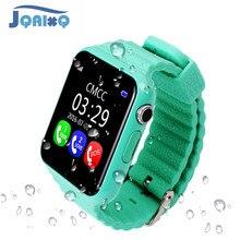 Oryginalny V7K GPS Bluetooth inteligentny zegarek dla dzieci chłopiec dziewczyna Apple telefon z systemem android wsparcie SIM/TF wybierania połączeń i Push wiadomość