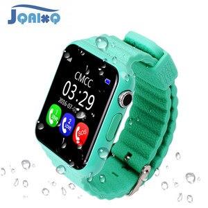 Image 1 - Oryginalny V7K GPS Bluetooth inteligentny zegarek dla dzieci chłopiec dziewczyna Apple telefon z systemem android wsparcie SIM/TF wybierania połączeń i Push wiadomość