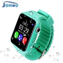 Smartwatch v7k original, smartwatch bluetooth para crianças, meninos, meninas, android, suporte para sim/tf, ligação e empurrar mensagem