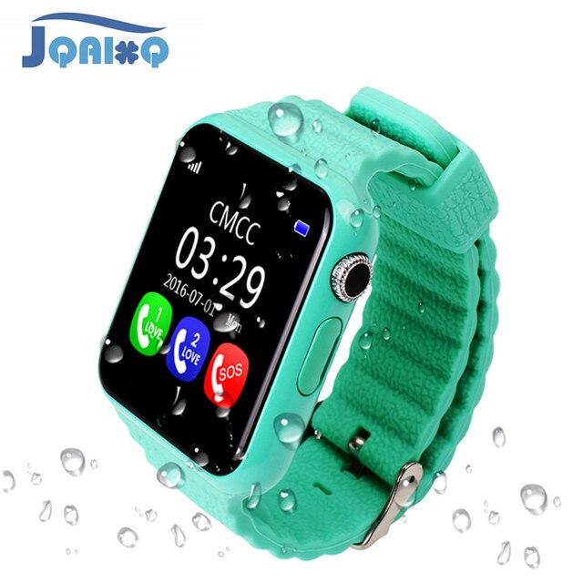 מקורי V7K GPS Bluetooth חכם שעון לילדים ילד ילדה אפל אנדרואיד טלפון ה SIM תמיכה/TF חיוג שיחה לדחוף הודעה