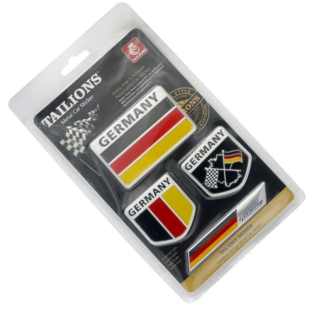 Chrome Sticker Decal USA America Flag Badge Emblem Motor Door Grille Accessories