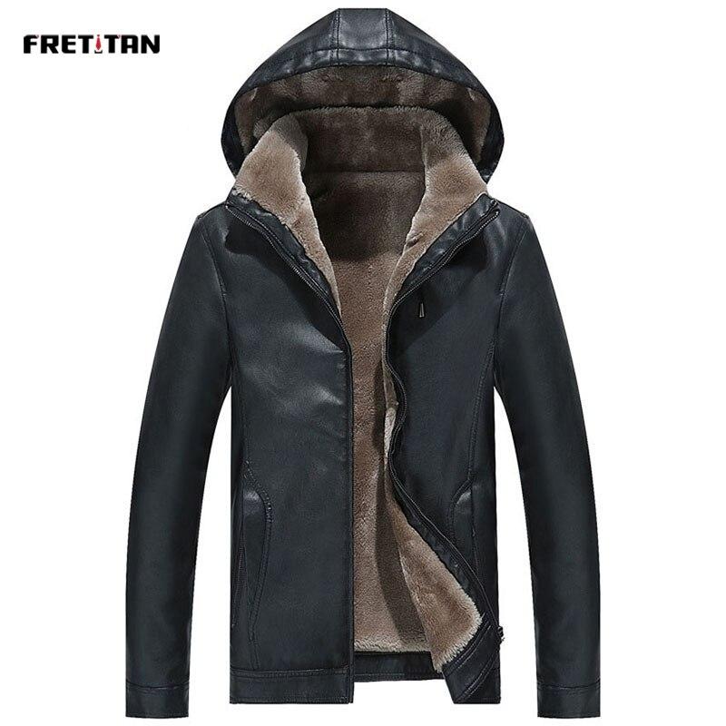 2019 hiver hommes veste en cuir chaud épais PU manteau mâle thermique polaire vestes Faux cuir hommes marque vêtements 3XL grande taille
