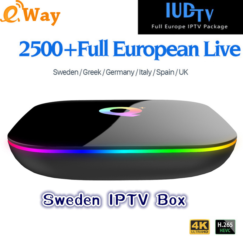 Q PLUS with 1year IUDTV iptv Months 4G 64G Arabic Spain French German Italy Netherland Sweden