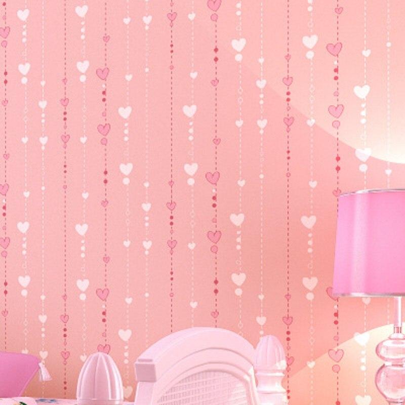 Papier peint Mural de haute qualité en forme de coeur moderne papier peint rayé décor chambre d'enfants papier peint papel de parede tapete