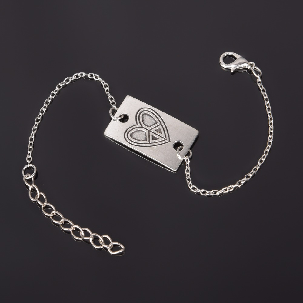 Simple Style Silver Plated Charm Bracelet Jewelry Gift Wedding Banquet Wholesale Top Quality 1 D2 9