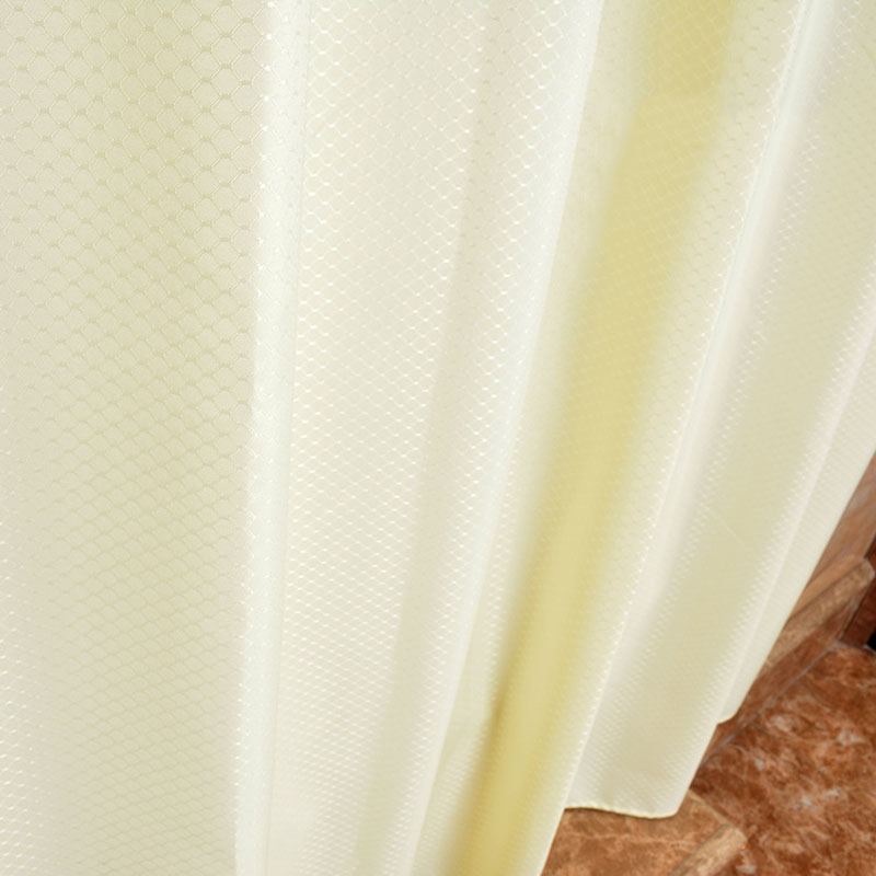 Polyester Shower Curtains For Hotels Cream Color Waterfull Bath