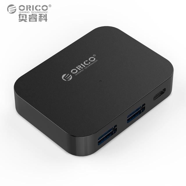 ORICO TC2U-U3 Tipo-C USB3.1 Extensão HUB HUB para Apple MacBook-Prata/Preto