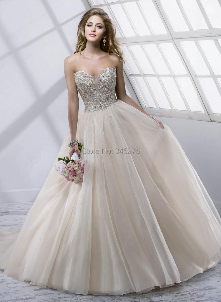 Popular Ball Gown Silver Crystal Wedding Dress-Buy Cheap Ball Gown ...