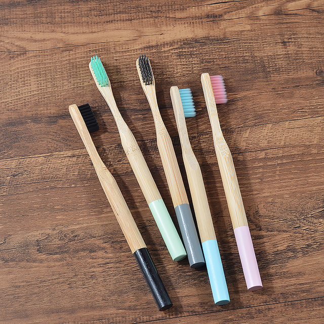 5 pack Adult Bamboo Toothbrushes Soft Bristles eco friendly cepillo dientes bambu Oral Care Toothbrush clareador de dente 1