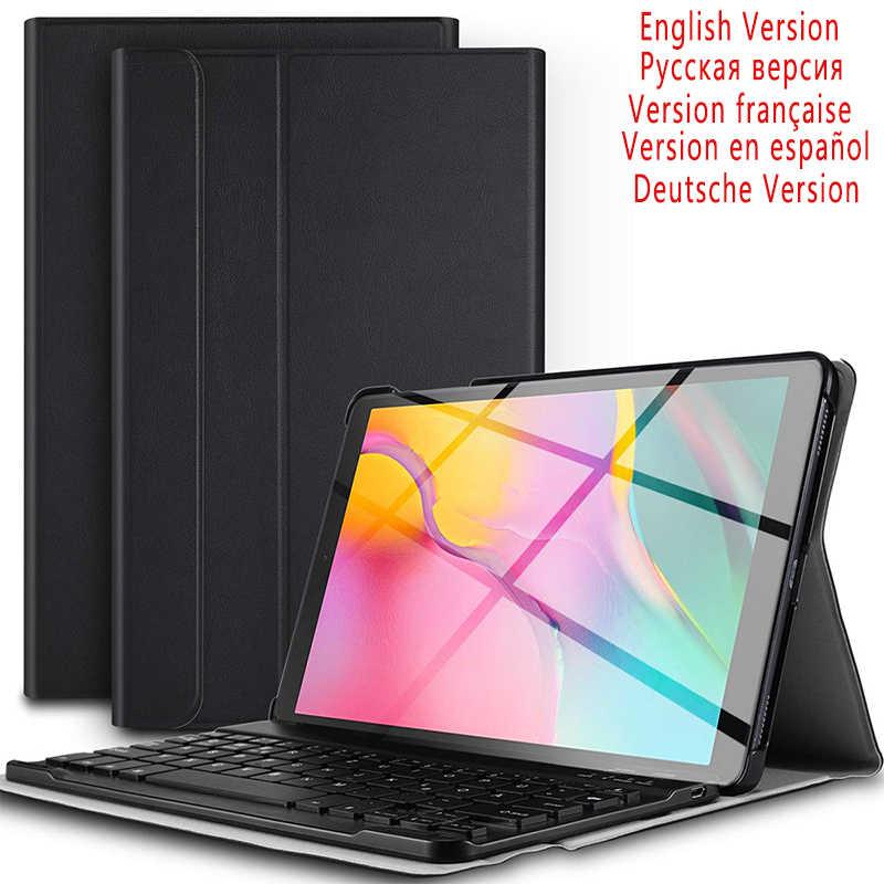 10 1 дюймов планшет Bluetooth клавиатура с подсветкой для samsung Galaxy Tab A 2019 SM T510 T515 кожаный