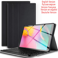 case samsung galaxy 10.1 Inch Tablet Bluetooth Backlit Keyboard For Samsung Galaxy Tab A 10.1 2019 SM-T510 SM-T515 With Leather Case (1)