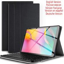 10.1 inç Tablet Bluetooth arkadan aydınlatmalı samsung klavye Galaxy Tab A 10.1 2019 SM T510 SM T515 deri kılıf ile