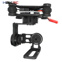 HAKRC Storm32 3 Axis RC Drone Acessório FPV Brushless Gimbal W/motores & 32 bit Storm32 Controlller para Gopro3 Cardan/Gopro4