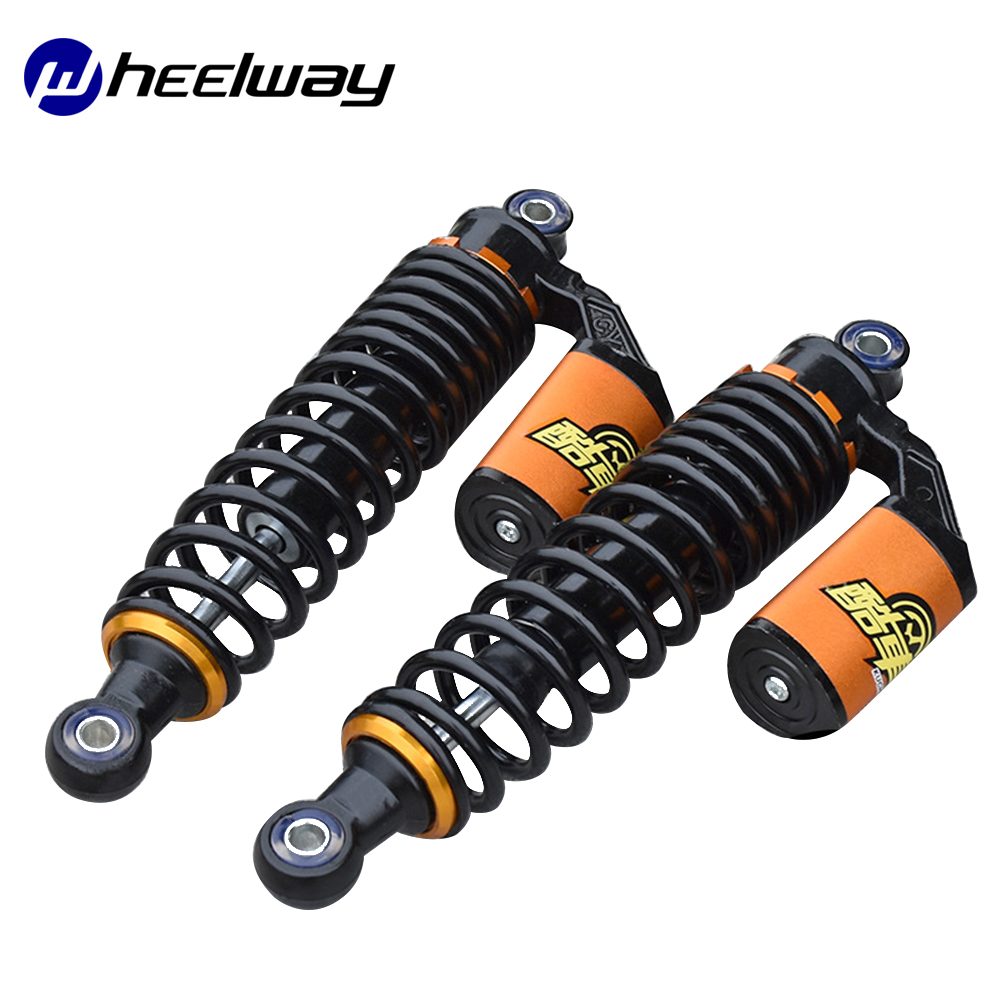2 pieces Hydraulic Rear Shock Absorption Electric Bicycle Section Hydraulic Shock Absorption Motorcycle Scooter
