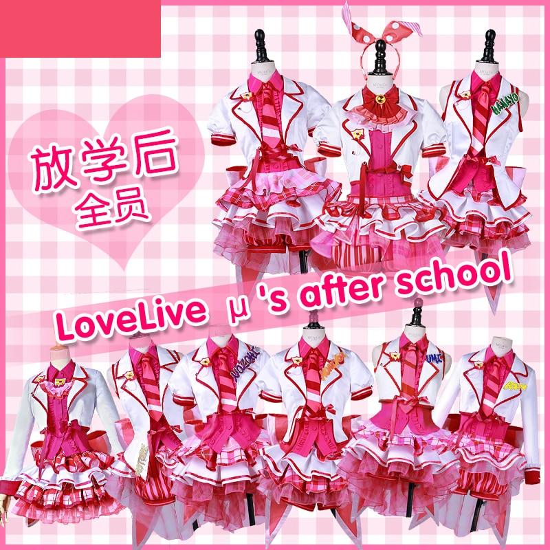 Love Live Honoka Котори Уми Илай Нозоми Маки Рин Hanayo Нико Live Вер, потому что платье Косплэй костюм для Хэллоуина демон