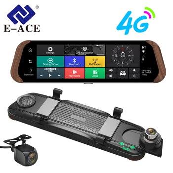E-ACE 車 Dvr ストリームバックミラーカメラ 4 グラムアンドロイド FHD 1080 1080P 10 インチデュアルレンズ ADAS ビデオレコーダー自動レジストラ Dashcam