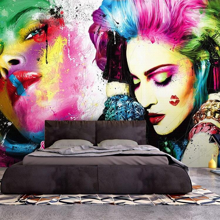 3d фотообои на заказ с акварельным 3d-рисунком, настенный фон для салонов красоты, бар, тату, для студии, спальни, гостиной
