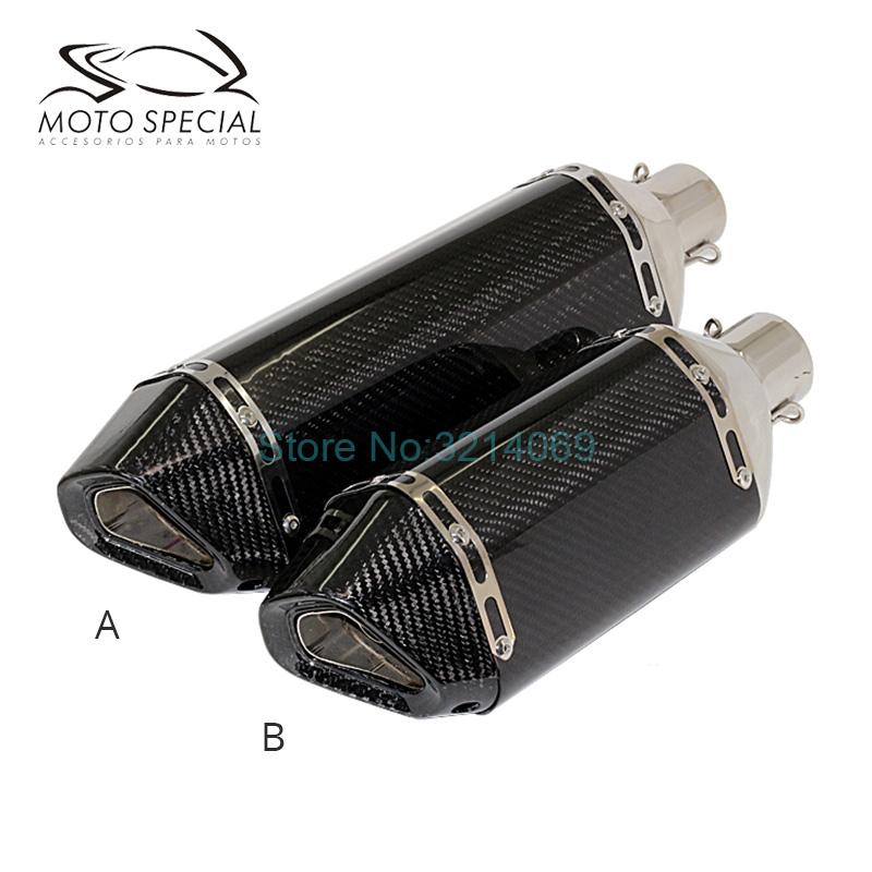 Universal 51mm Akrapovic Motorcycle Exhaust Pipe Carbon Fiber Modified Motorbike Scooter Muffler Exhaust TMAX530 Escape Moto