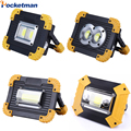 100 W Led foco portátil luz USB linterna recargable 2*18650 o 3 * AA batería para la caza camping Led mancave