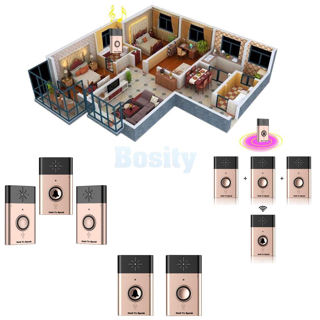 300m Range Wireless Doorbell Golden Door Chime Song with Sound Voice Intercom wireless doorbell with speaker voice intercom 300m distance golden