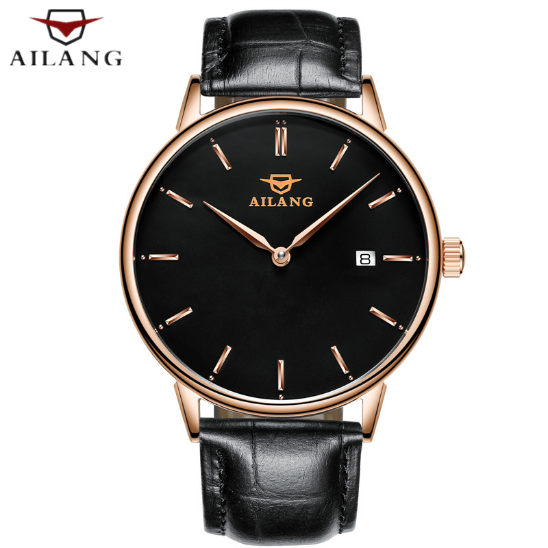 Mechanical Wind Mens watches top brand luxury Casual Business Wrist watch Mens Calendar Leather Automatic Mechanical Watch