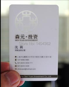 Image 2 - カスタム名刺印刷 5000 個 0.38 ミリメートルプラスチック透明 PVC 名刺 1 両面印刷のクリアつや消し表面