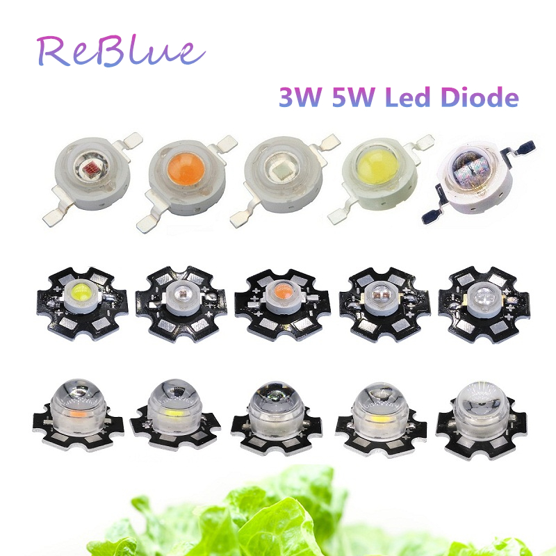 25Pcs Led Chip 3W 5W Led Diode 3W High Power Led Diode Powerful Leds with PCB Heatsink Bridgelux Epistar Chip UV IR DIY Lamps