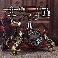 Высокий класс твердой древесины Европейский пастырской античный телефон/Античная Ретро caller ID телефон/Венеция любителей набрать номер пове