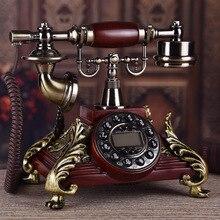 High grade solid wood European pastoral antique telephone / Antique retro caller ID phone Venice lovers