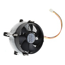 1Pc Black 4 Pin 12V New Computer CPU Air Source Brushless DC Fan PC Cooling Cooler Fan For Intel 775 Device T0.16
