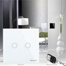 New Arrival EU Standard SESOO 2 Gang 1 Way Wireless Remote Control Wifi Wall Light Switch