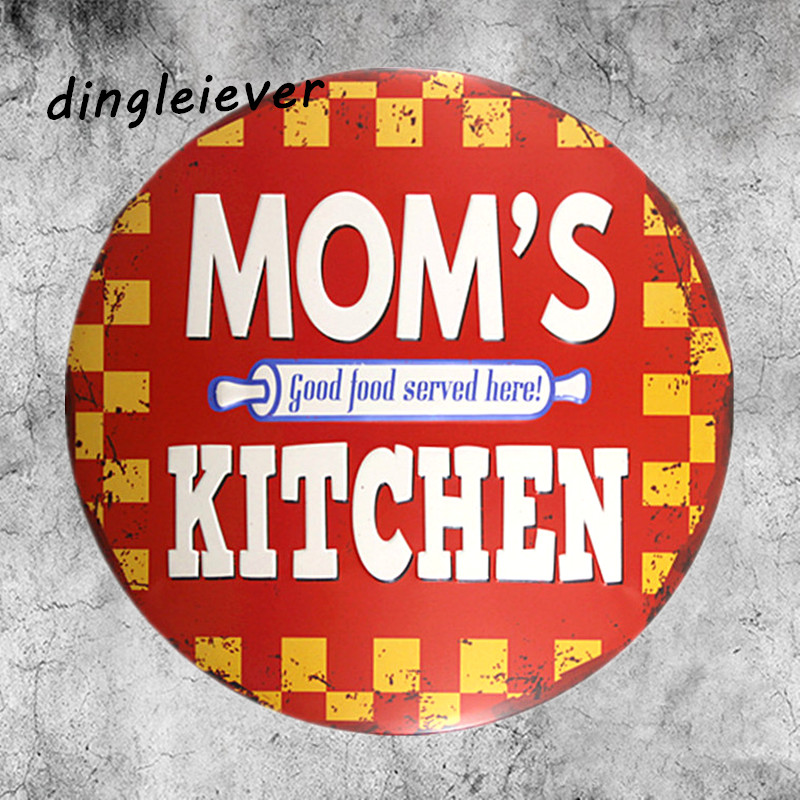 Us 8 99 Mom S Kitchen Coffee Signs Kitchen Decor Irregular Tin Sign Wall Sticker For Food In Plaques Signs From Home Garden On Aliexpress Com