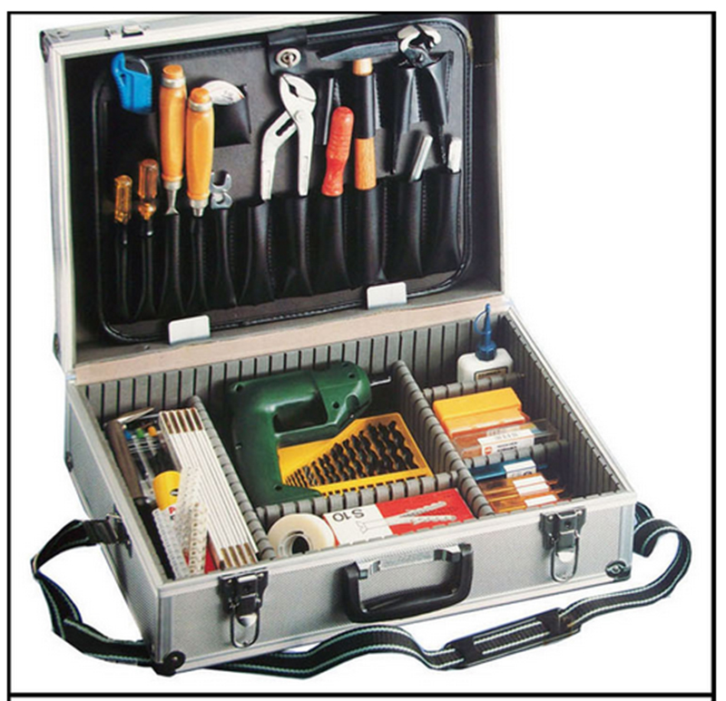 Large Aluminum Tool Box Silver Right Angle Aluminum Case Toolkit Metal Toolbox With A Palette With Adjust The Insert