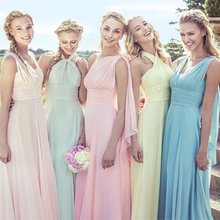 Cheap Convertible A-Line Chiffon Long Bridesmaid Dresses Wedding Party Dresses robe demoiselle d'honneur Bridesmaid Dress BMD94