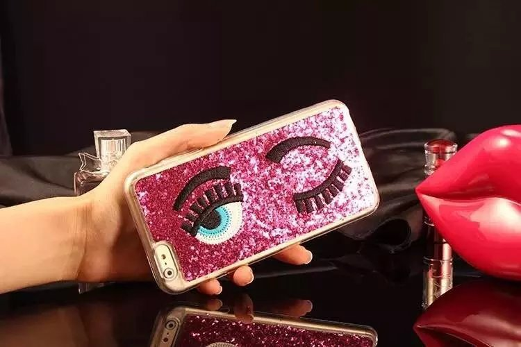 []New Fashion MISS Gossip Girl Chiara Ferragni Eyebrow Sequins Following Blinking Pink GoldCase iPhone 6/6 Plus - Bon Chic store