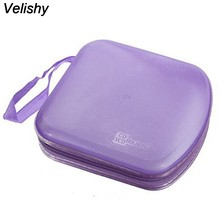 Velishy 1 PC 7 couleurs 40 disque DVD VCD DJ carte protéger sac de transport Album sac boîte rigide Double face DVD mallette de rangement(China)