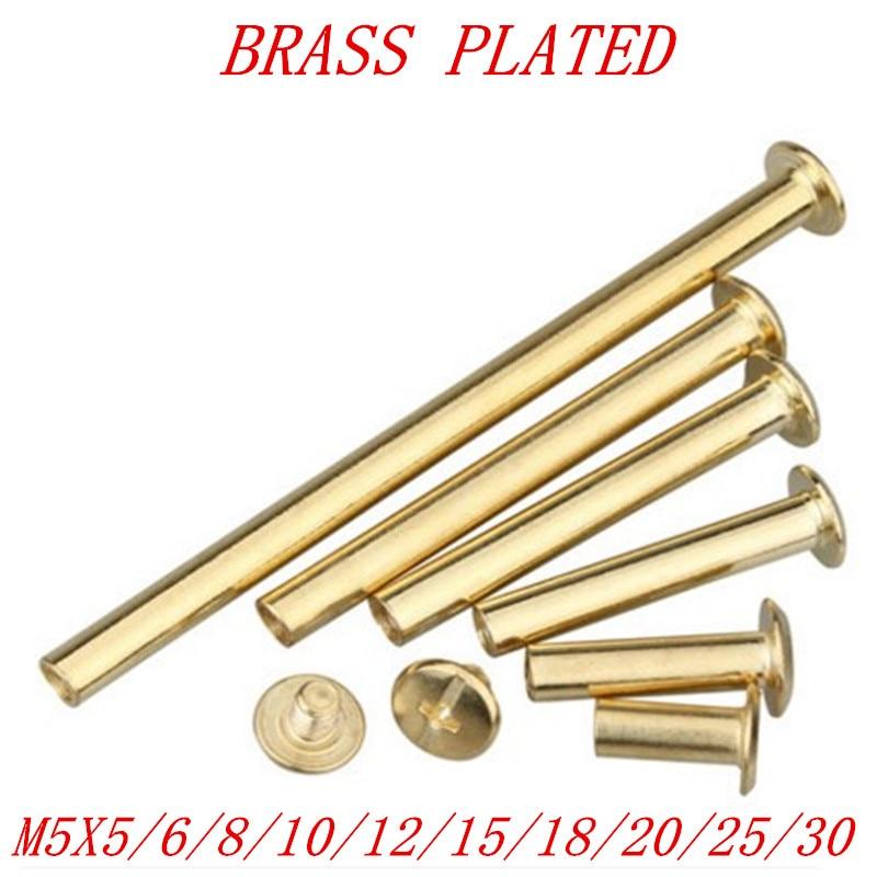 Color : 5X25, Size : Steelblack20pcs MZJJ 10pcs 20pcs//lot m5 x 4-30mm Stainless Steel//Brass Plated//Nickel Plated//Black Sex Bolt Chicago Screw Book Binding Post Screws