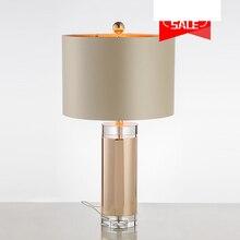 Luxury K9 Crystal Modern Simple Table Lamps Living Room Bedroom Reading  Metal Body Lamp Desk Lamps E27 Holder Lamparas De Mesa