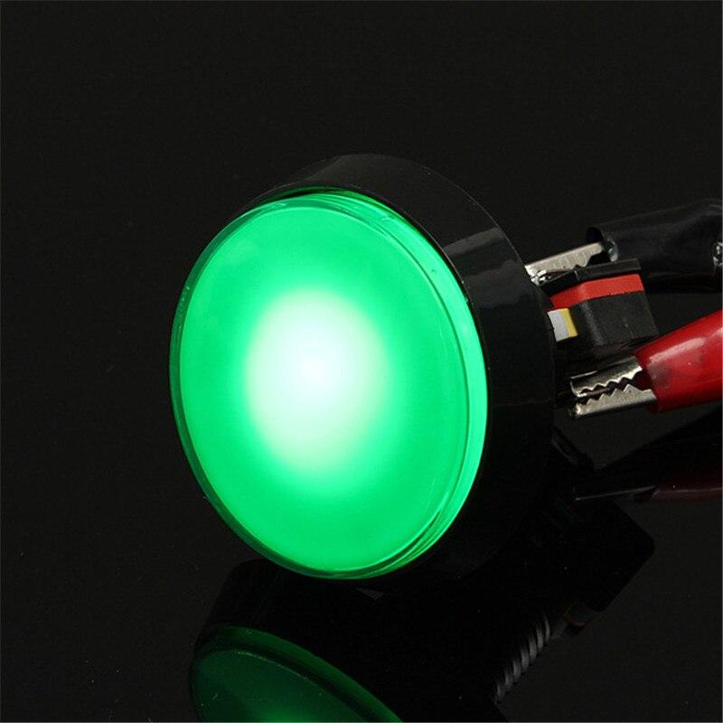 LLEVÓ la Luz de 60mm Gran Ronda Interruptor de Botón de Juego de Arcade Arcade d