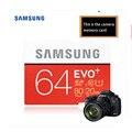 100% Оригинал Samsung EVO + 16 ГБ/32 ГБ/64 ГБ SD Card Class10 Флэш-Карты Памяти Макс до 80 МБ/с. Высокая Скорость SD Камеры Карты Видеокамеры