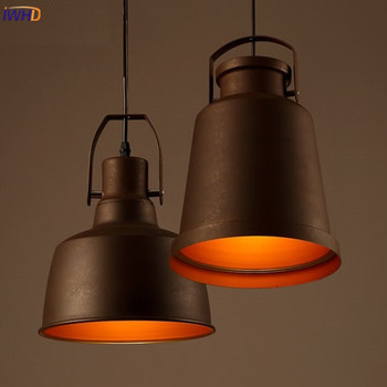 IWHD Industrial Vintage Hanging Lamp American Style Loft Retro Pendant Lamp BlacK Iron Kitchen Hanglamp Home Lighting Fixtures