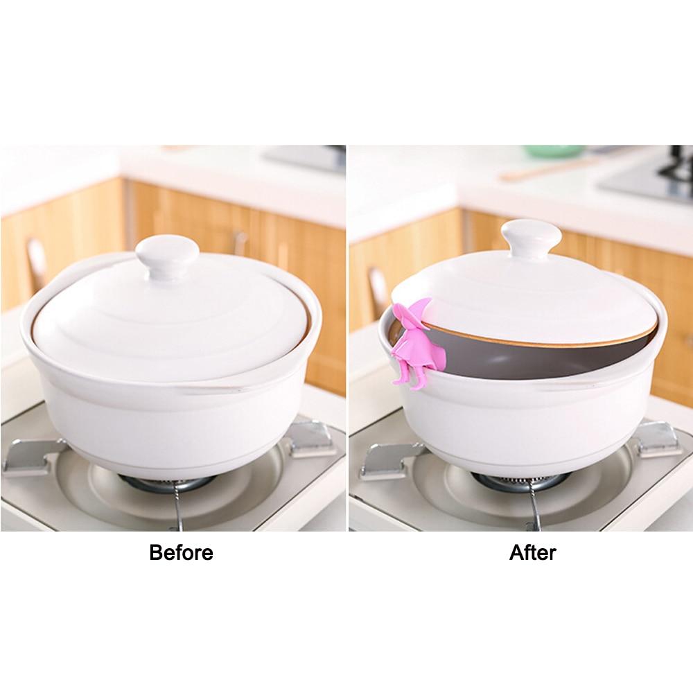 Креативные силиконовые кухонные аксессуары подъемный горшок крышка переливное устройство инструменты для роста