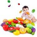 Increíble 20 unids cortar verduras frutas pretend play niños cocina de juguetes educativos kid juguete brinquedos de menina