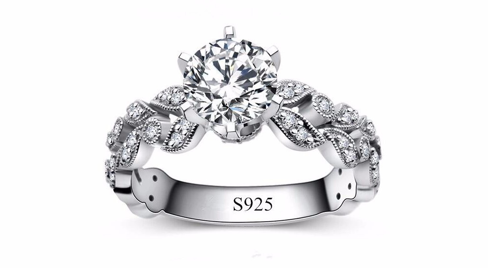 Hot sale fashion jewelry 925 stealing silver Wedding engagement rings for women White Gold plated AAA Zircon cz Diamond Jewelry luxury bague DD097 (2)