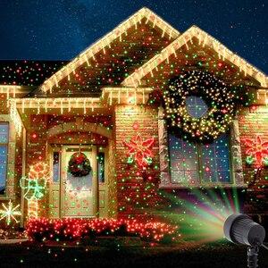 Image 5 - חג המולד לייזר מקרן כוכבים אדום ירוק כחול מקלחות אורות חיצוני עמיד למים IP65 גן קישוט סטטי נצנץ מרחוק
