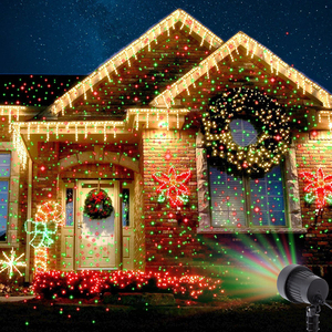 Image 5 - Christmas Laser Projector Stars Red Green Blue Showers lights Outdoor Waterproof IP65 Garden Decoration Static Twinkle  remote