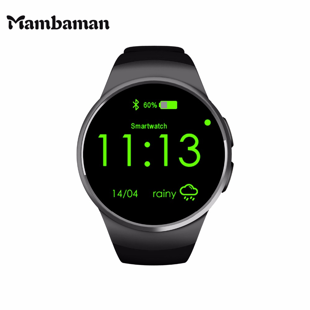 Mambaman KW18 Smart Watch Android Bluetooth Smartwatch alarm clock watches men Heart Rate for Mobile phone iphone Xiaomi VS iwo смартфон lenovo vibe c2 k10a40 16gb black